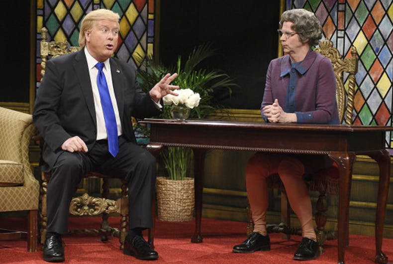 donald trump the church lady