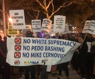 Alt-Right plants pro-pedophile banner at protest in attempt to smear progressive activists