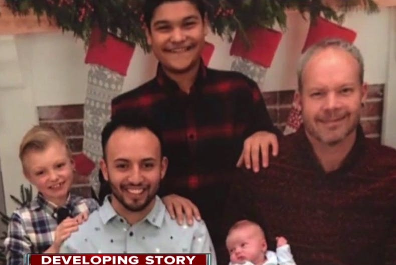 This heroic gay dad died saving his family from the fire his son started