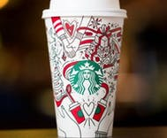 Did Starbucks put a lesbian couple holding hands on its Christmas cup?