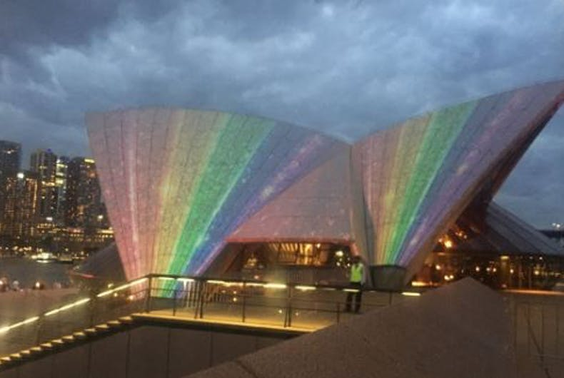 The Sydney Opera House became a rainbow for the launch of Gay & Lesbian Mardi Gras
