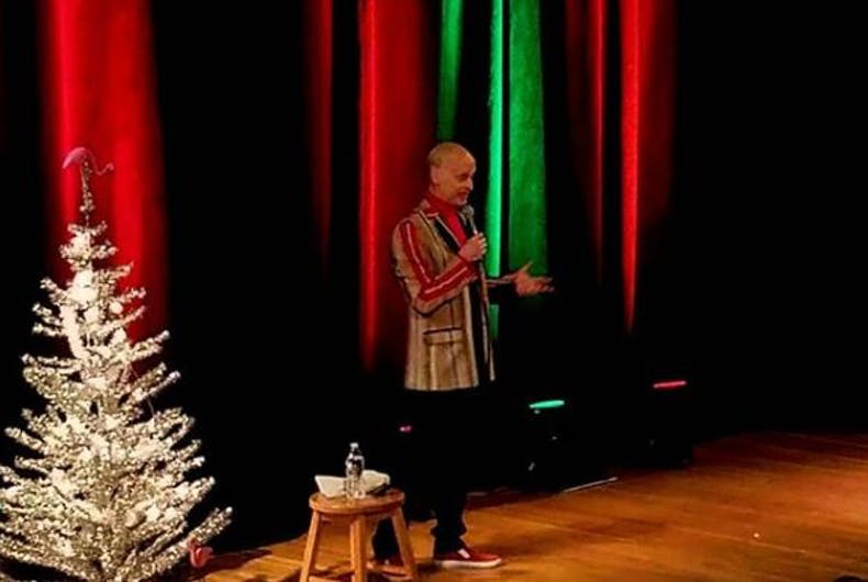 John Waters Christmas.You Have To See John Waters Badass Christmas Card Lgbtq