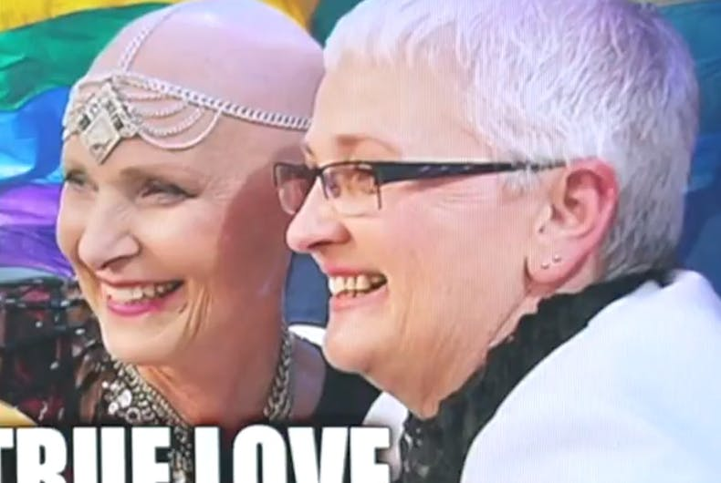 This Australian cancer patient raced against time to marry her wife before she dies