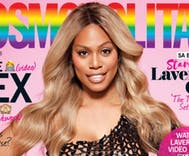 Laverne Cox becomes the first transgender woman to grace the cover of Cosmopolitan