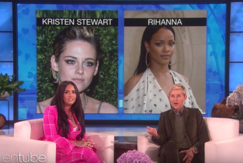 Ellen & Demi Lovato didn't straightwash it when they played 'Who'd You Rather?'