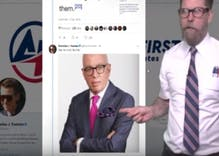 The right is claiming the reporter who wrote the book about Trump is a closet case