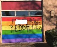 Church that painted its doors rainbow after antigay vandalism is yet hit again with slur