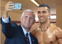 As Malaysian media tells how to spot a gay, Mike Pence gives us an example