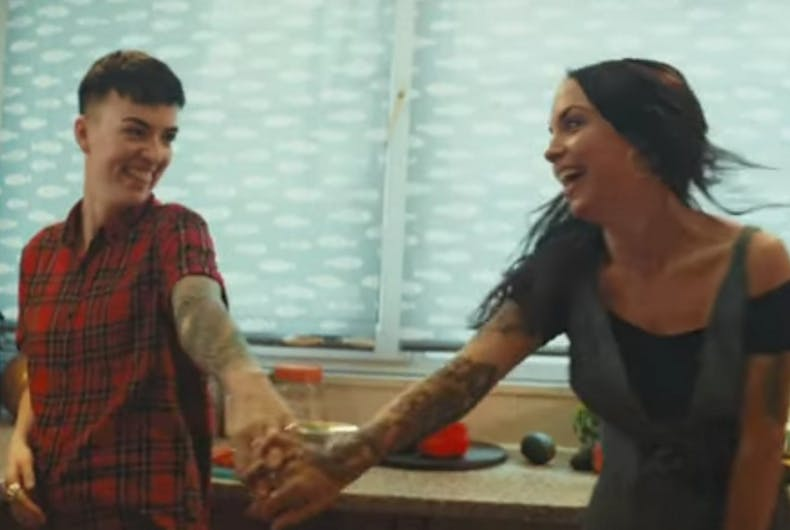 A lesbian couple will appear in this ad, even though the company got hate mail