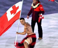 Tonga's flag bearer sexed up the freezing Olympics opening ceremony