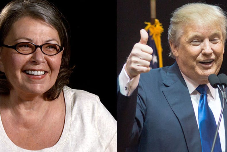 Roseanne Barr Donald Trump