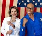 Take a quick peek at Nancy Pelosi & RuPaul walking into the workroom on 'Drag Race'