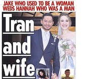 Tabloid's transphobic cover spoils couple's magical wedding day