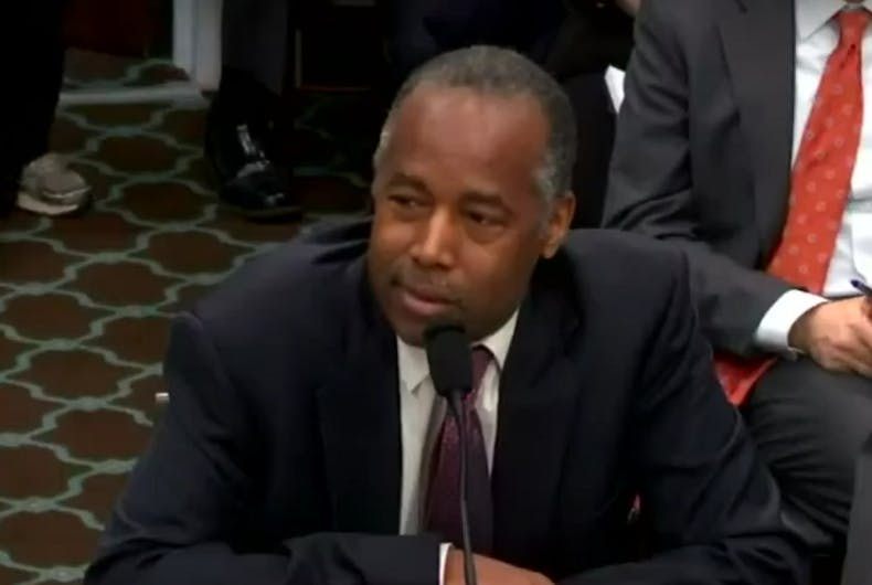 Ben Carson: Women aren't comfortable with trans people's 'anatomy' in the shower