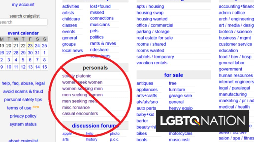 Craigslist closes its personals section after sex ...