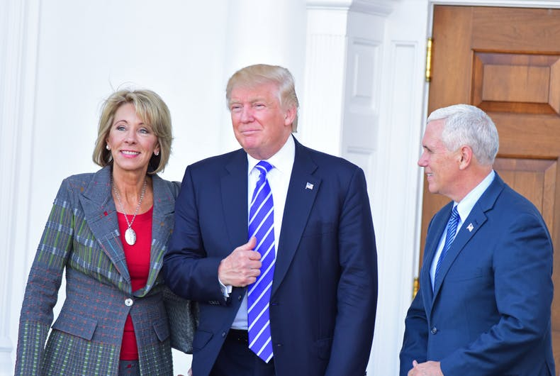 Big Worries About Betsy Devos >> Is Anti Trans Discrimination A Devos Family Value Lgbtq Nation