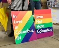 Mike Pence's hometown held its first LGBT pride festival today & it was incredible