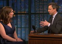 Trans activist Sarah McBride's appearance on Seth Meyers' show is everything