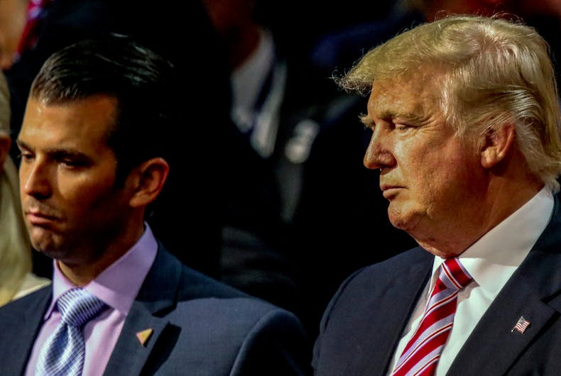 Trump Jr bragged that his penis is bigger than his dad's