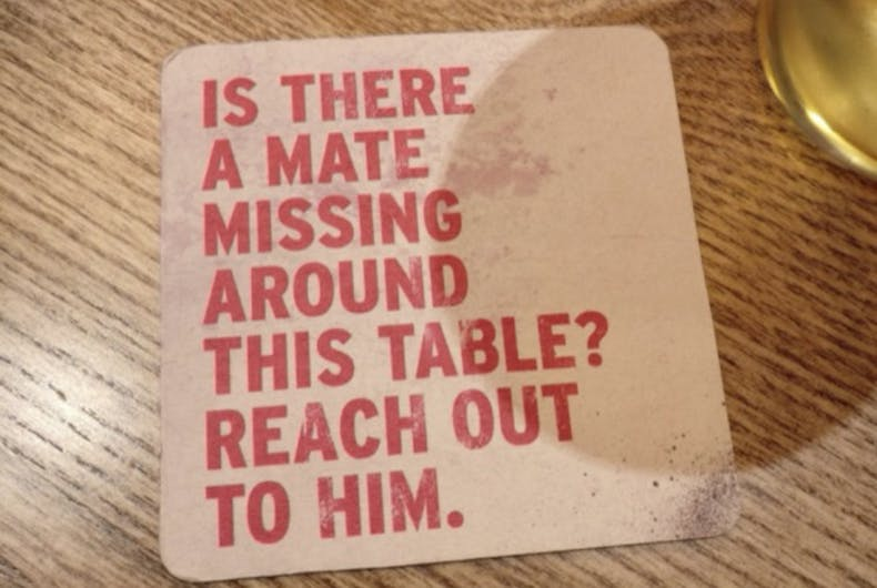 These beer coasters are saving men's lives