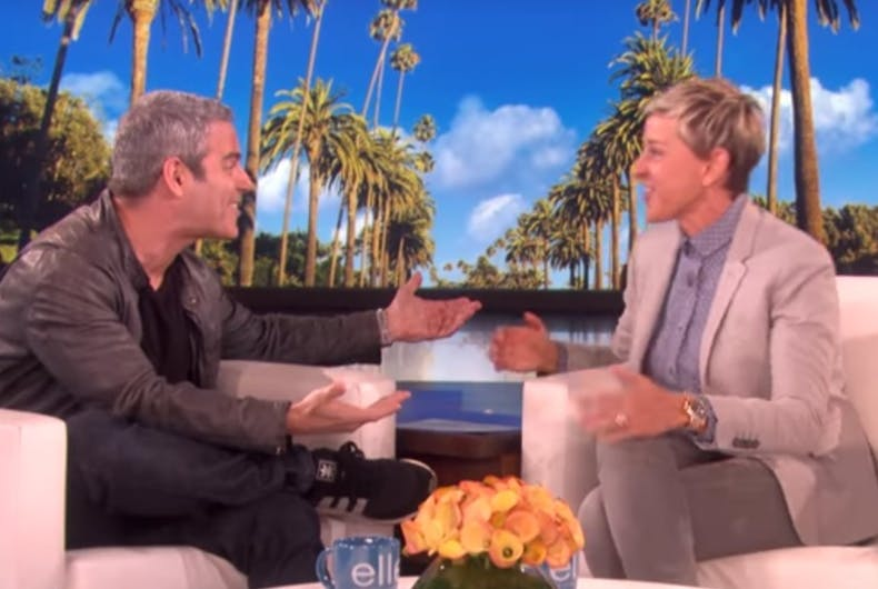 Andy Cohen tells Ellen why he gets kicked off dating apps