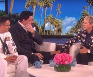 Ellen talks with the first gay Navy Spouse of the Year