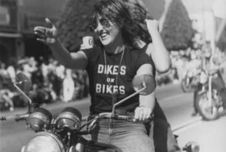 Pride in Pictures 1978: Dykes on Bikes take charge of the parade