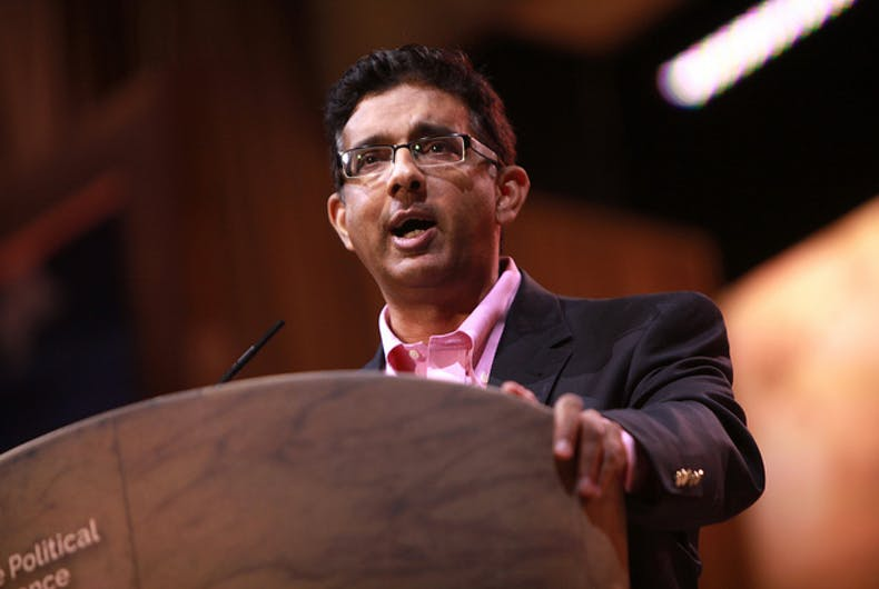 Anti-gay crackpot Dinesh D'Souza is the perfect choice for a Trump pardon