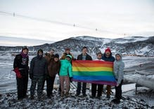 Pride flag waves over South Pole for the first time