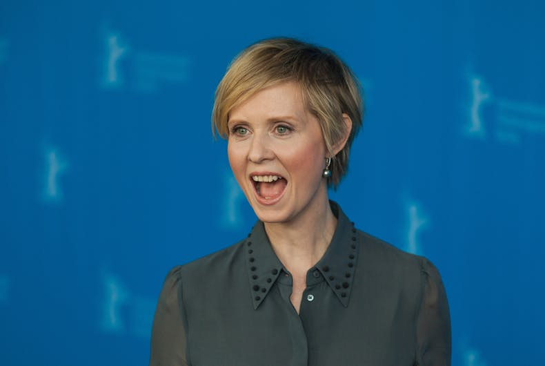 February 14, 2016: Actress Cynthia Nixon attends the 'A Quiet Passion' photo call during the 66th Berlinale International Film Festival.