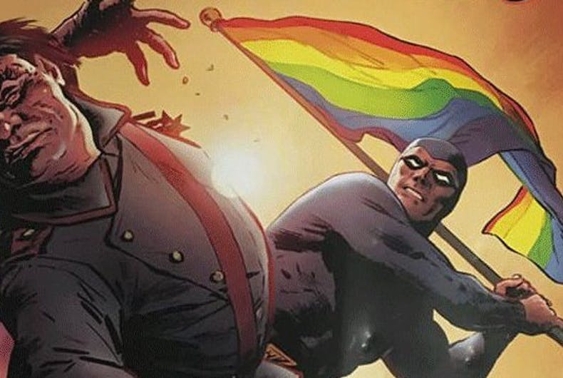 Poland is an uproar over a comic book hero who bashes back at Pride