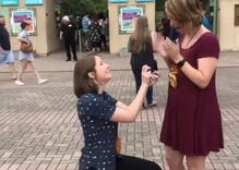 When she asked her girlfriend to marry her, she wasn't expecting this response