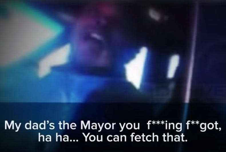 Denver mayor's son calls cop a 'fa**ot' & threatens to get him fired