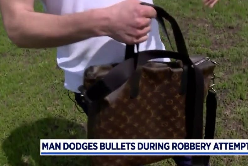 This fierce man dodged a mugger's bullets to keep his Louis Vuitton bag