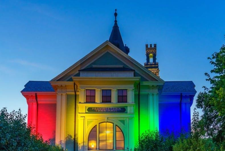 Provincetown pride light display