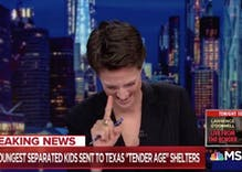 Rachel Maddow broke down in tears reporting on Trump's internment centers for babies