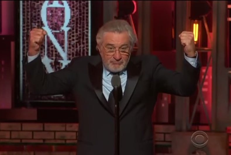 Robert De Niro's Tony rant was deeply satisfying & really stupid