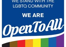 Shops should post a sign letting you know LGBTQ people are welcome there?