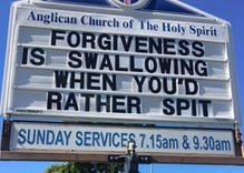This church put up a message that brought the congregation to its knees