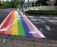 Rainbow crosswalks were vandalized in 4 different cities recently