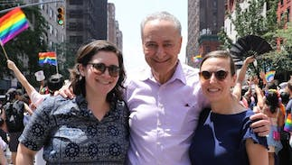 Chuck Schumer introduced his daughter & her fiancee to America at NYC Pride