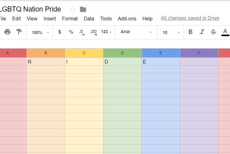 pride-google-sheets