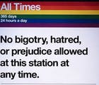 Remember to obey the subway rules as you travel to NYC pride