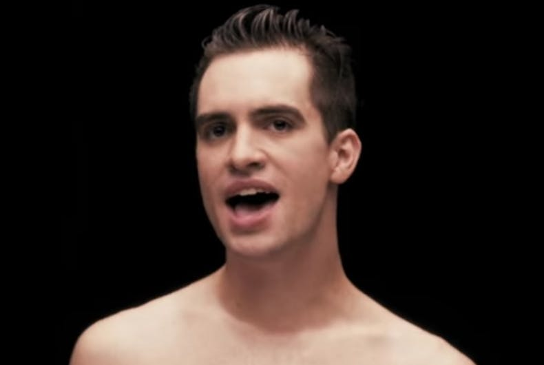 7a453a88 Brendon Urie in the video for