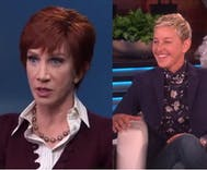 Kathy Griffin called Ellen a 'f–king untalented hack' in a fight over Joan Rivers' legacy