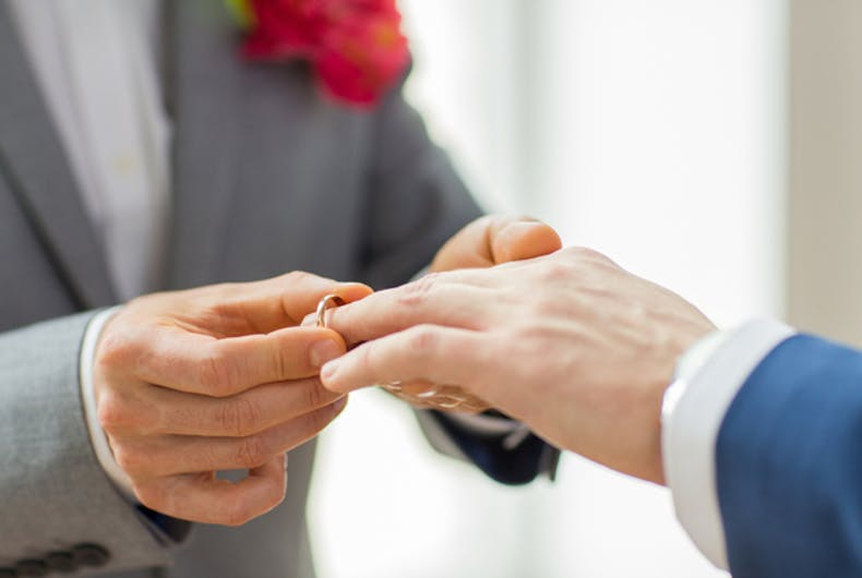 Can marriage have a positive effect on healthcare for gay men?