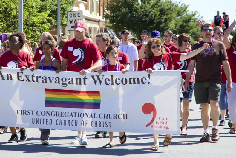 Indianapolis, IN - June 14: Gay Pride Parade in downtown Indianapolis, IN