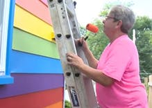 These lesbians painted their house in rainbow colors to spite their anti-gay neighbor