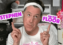 Stephen Colbert's makeup tutorial video will give you that presidential look