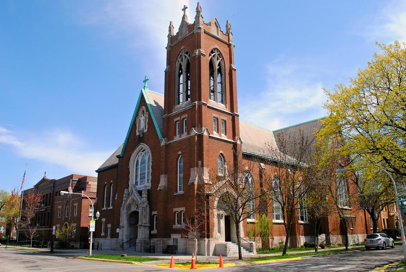 This Catholic church almost got away with burning a pride flag during mass